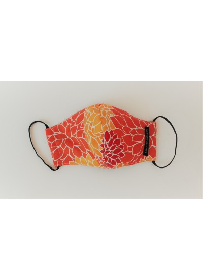 Face Mask Orangy Leaves
