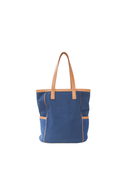 Ivy Zip Tote Navy Blue