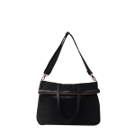 SAGE FOLDOVER CROSSBODY BAG BLACK