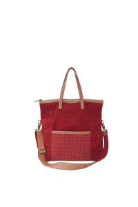 SAGE FOLDOVER CROSSBODY BAG RED