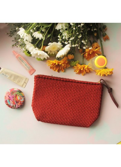 Sefina Zip Clutch Burnt Orange