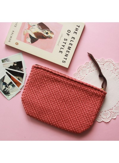Sefina Zip Clutch Fushion Coral