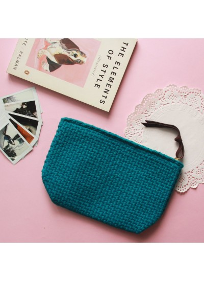 Sefina Zip Clutch Teal