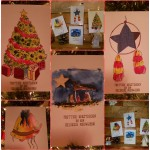 Christmas weave cards