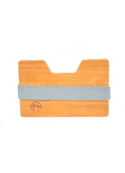 Bamboo Wooden Wallet Gray