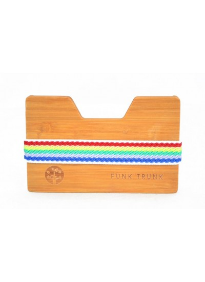 Bamboo Wooden Wallet Rainbow